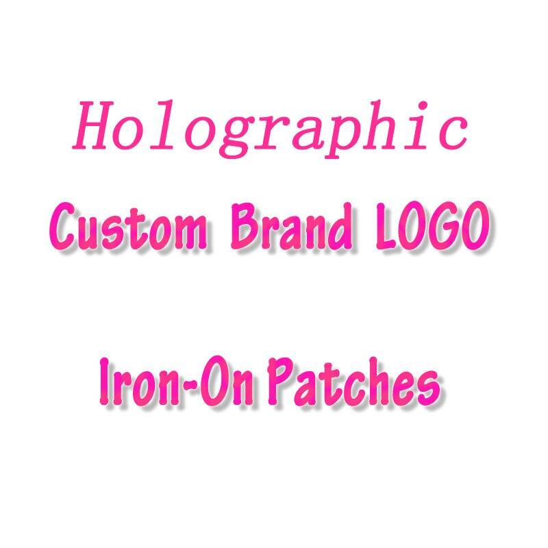 Holografik özel marka logosu demir On transferler isı transferi PVC yama giysi termal Transfer ısı vinil ütü etiket