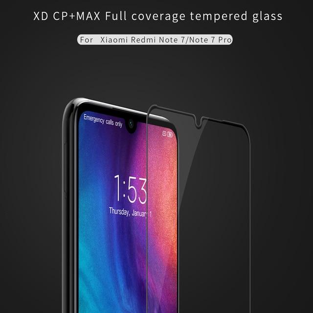 For Xiaomi Redmi Note 7 Pro Glass Nillkin XD CP+ Max Full Cover 3D Tempered Glass Screen Protector for Redmi Note7 note 7S film