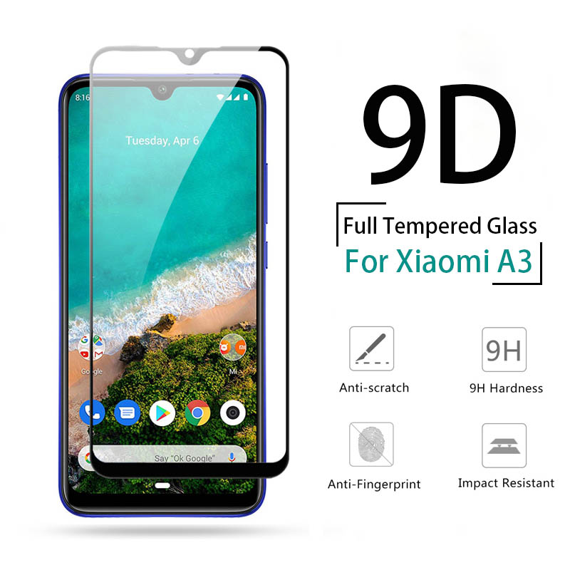 9D Full Cover Tempered Glass For Xiaomi Mi A3 Mi A2 Lite MiA1 MIA3 MIA2 Lite Screen Protector Mi A 1 2 3 Lite Protective Glass