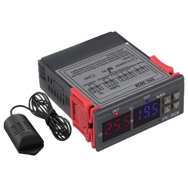 Stc 3028 цифровой измеритель температуры и влажности 110 220 В 10A термостат двойной дисплей термометр контроллер гигрометра Регулируемый 0 ~
