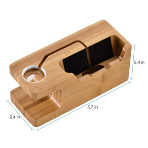 Image 2 - Besegad Bamboo Charging Charger Dock Mount Holder Station for Apple Watch iWatch Series 4 3 2 1 38/42mm iPhone 10 X 8 7 6s Plus