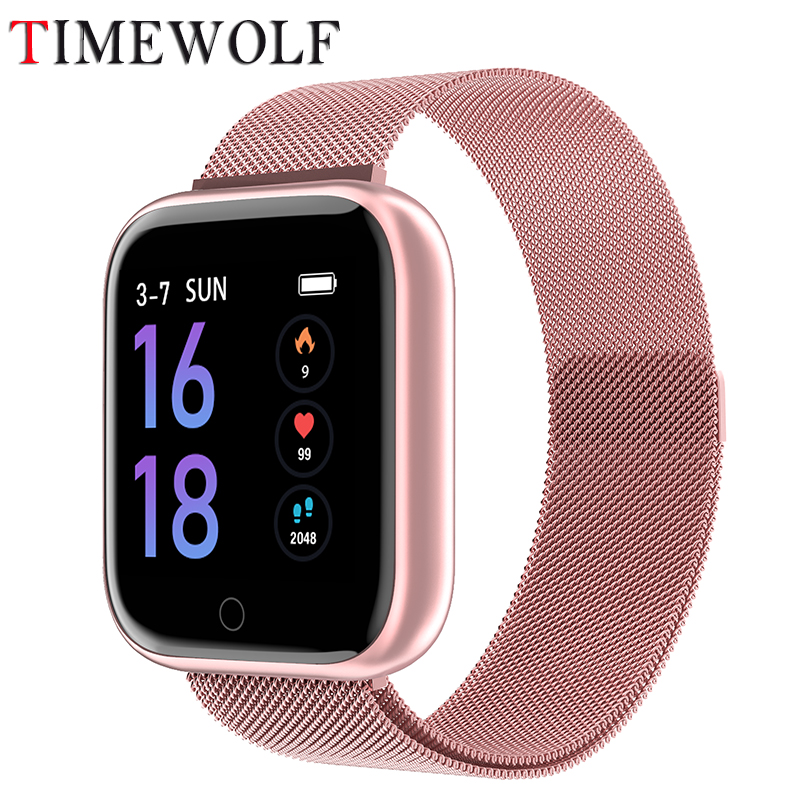 Timewolf T80 Smartwatch Women Elegant Bluetooth Smart Watches Android Watch Waterproof Smart Watch For Android Phone Iphone IOS