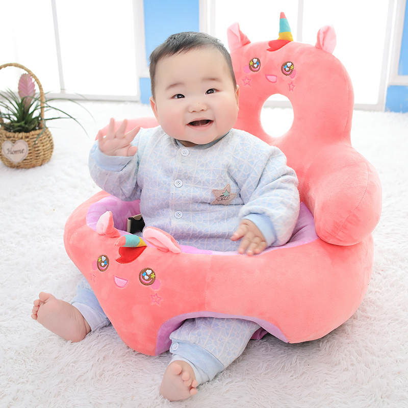 KUY Nice Infant Toddler Kids Baby Support Seat Sit Up Soft Chair Cushion Sofa Plush Pillow Toy Animal Pig Penguin Unicorn Deer
