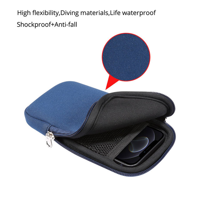 Universal 4.7-7.2'' Life Waterproof Phone Bag Pouch for iPhone Samsung Huawei Xiaomi Shockproof Phone Case with Shoulder Strap 3