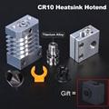 CR10 Hotend Warmte Breken Alle Metalen 3D Printer Onderdelen Voor CR-10 Ender3 MK8 Nozzle Zwitserse CR10 Heatsink J-Head hotend Titanium Blok