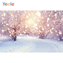Yeele Winter White Snow Party Forest Tree Christmas Backdrop Custom Photography Background For Photo Studio Photophone Vinyl
