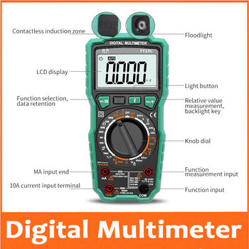 multi-function multimeter digital high precision electric universal table intelligent anti-burning capacitor meter 100MF