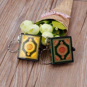 Image 5 - Mini Ark Corán libro papel Real puede leer el Corán árabe llavero joyas musulmanas