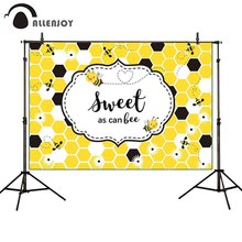 Allenjoy photophone backgrounds sweet as can Bee Honeycomb baby shower birthday party photography backdrops photobooth photocall