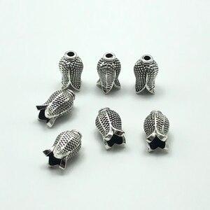 Image 2 - 30 個アラブイスラム教徒数珠古代シルバーチューリップ形ジュエリーメイキングのためタッセル diy 手作りアクセサリー