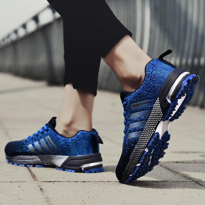 Summer Breathable Men Shoes Casual Shoes Men Fashions Male Mesh Shoes Men Sneakers Big Size Zapatillas Hombre Blue 2020 New