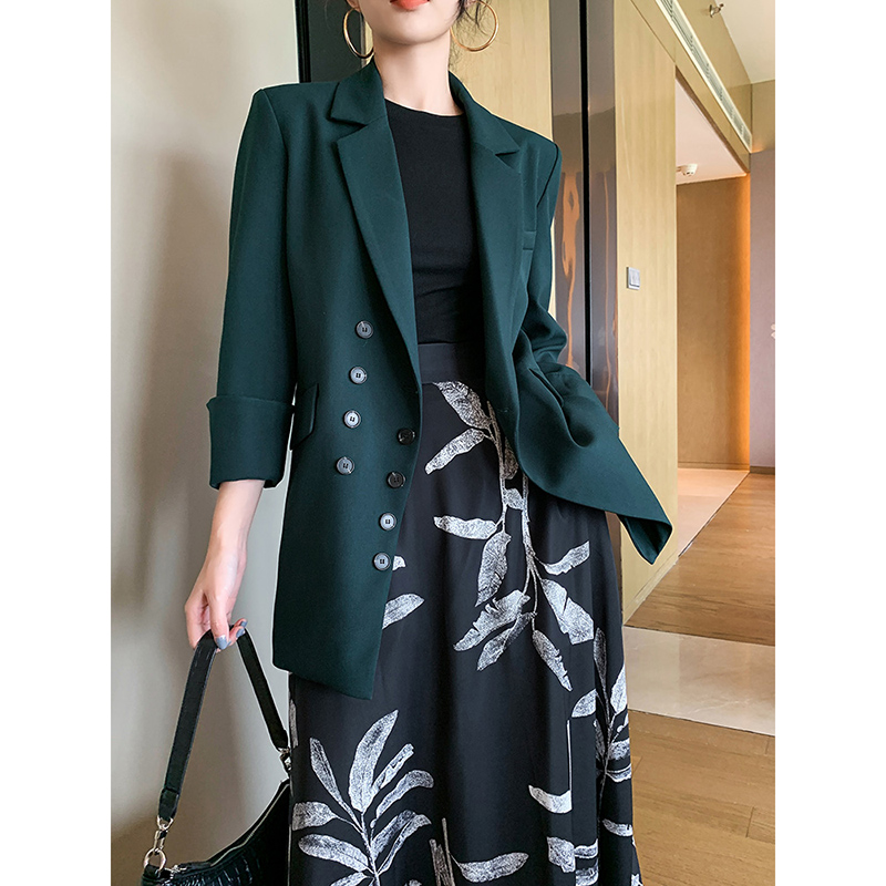 High Quality Women's Spring And Autumn New Small Suit Jacket Casual Wild Self-cultivationslimming Suit Jacket Straightloose Coat