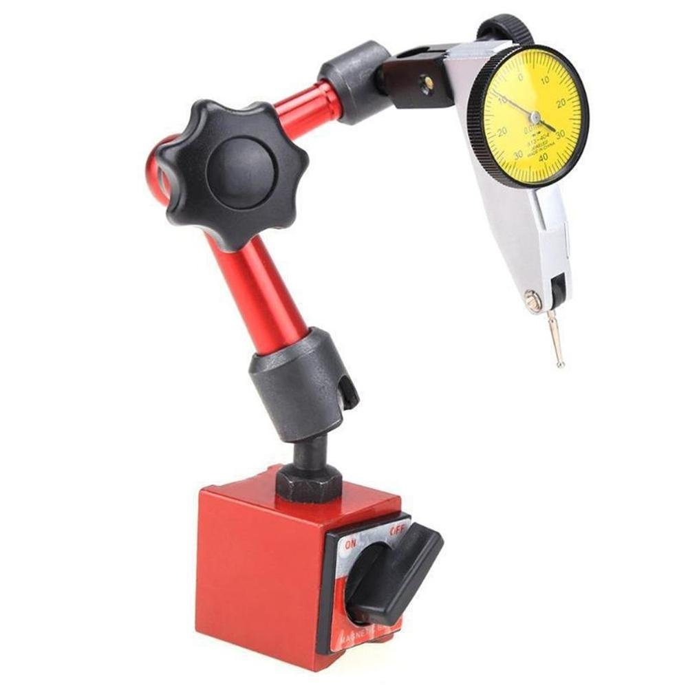 Mini Universal Magnetic Base Holder Table Seat Correction Gauge Stand Indicator Tool Flexible Dial Test Indicator