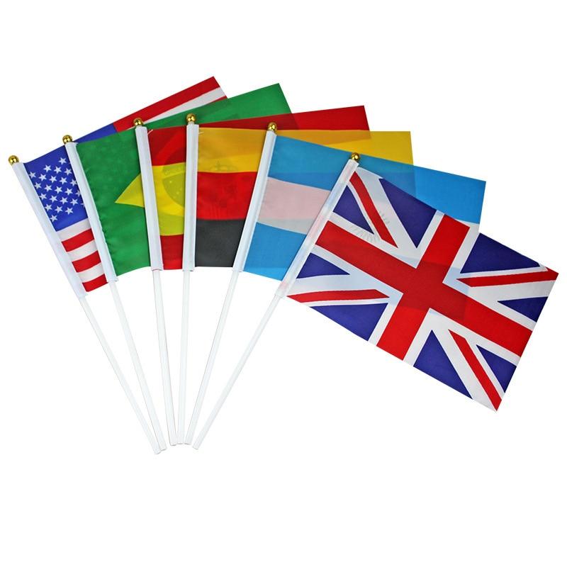Canadian Flag Brazilian Flag Spanish Flag Italian Flag Print Stripes Fashion 30.5*21*0.5cm Terylene Nylon Nationalflag National