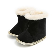 Warmborn Baby Girls Boots Princess flat with Winter First Walkers Soft Soled Infant Toddler Kids Girl Footwear Shoes #25