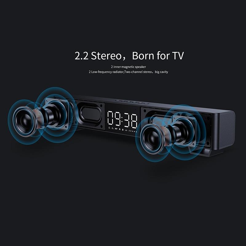 mifa Soundbar K3 Bluetooth Speaker 2 Stereo Sound Big Digital Display Wireless Bluetooth 5.0 Support TWS 3