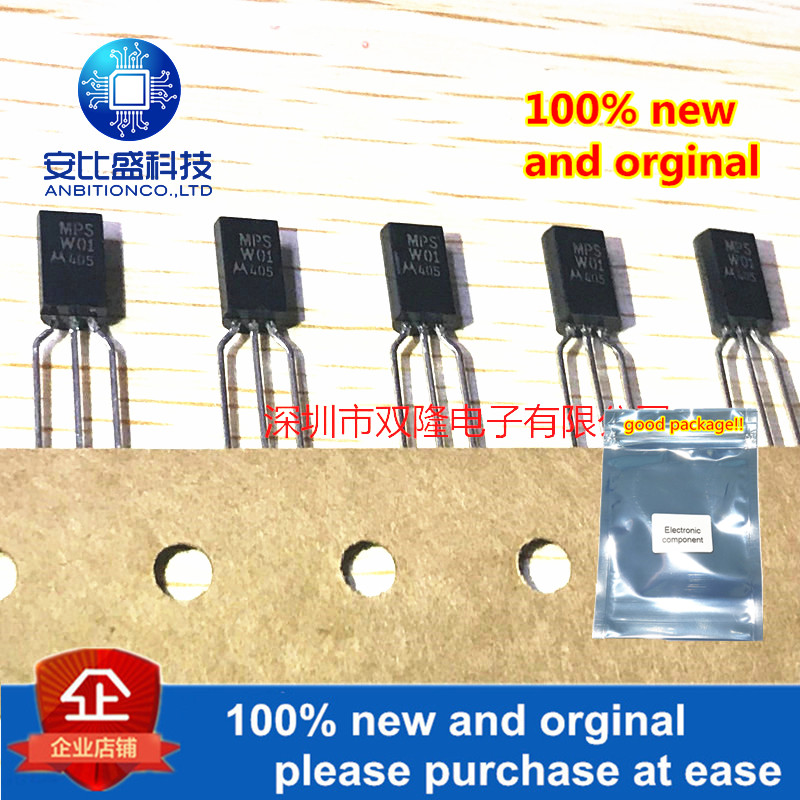 10pcs 100% New And Orginal MPSW01 MPSW01A W01A TO-92 In Stock