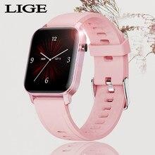 LIGE – montre sport connectée pour femmes, écran tactile, étanche, multifonction, moniteur de fréquence cardiaque, nouvelle mode 2020