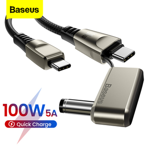 Baseus PD 100w USB C to Type C DC Cable QC 4.0 Fast Charging For iPad Xiaomi Macbook Lenovo Laptop DC Charger Cord USB-C Cable