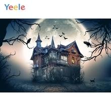 Yeele Photophone Halloween Backdrop House Bat Tree Forest Moon Night Vinyl Photocall Photography Background For Photo Studio