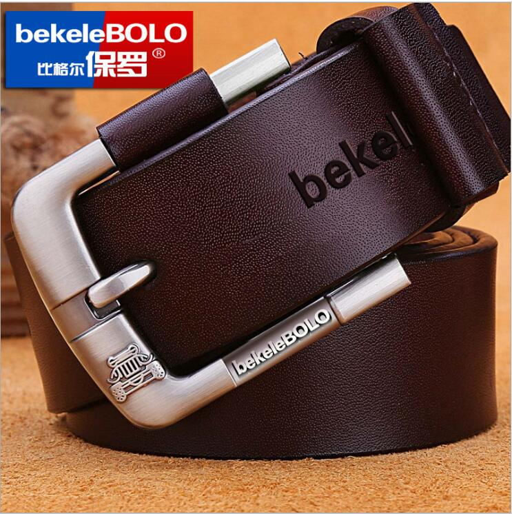New Belt For Man Genuine Leather Factory Cowhide Cowskin Men's Casual Pin Buckle Good Quality Male Strap For Jeans Denim Vintage