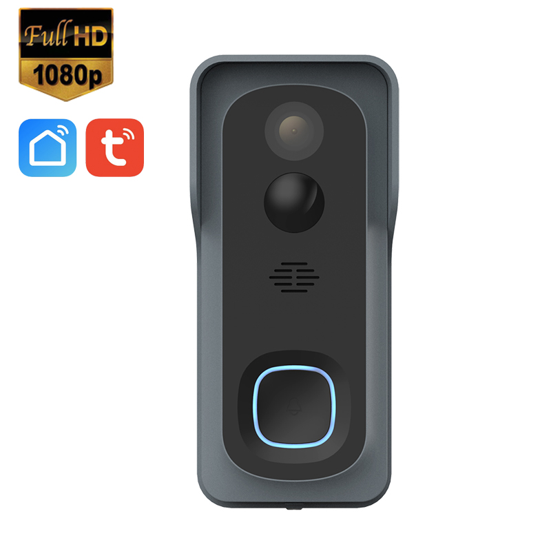Tuya Smart Life Wireless WiFi 1080P Video Doorbell Cloud Storage 128G TF Card Door Bell With Battery And Chime