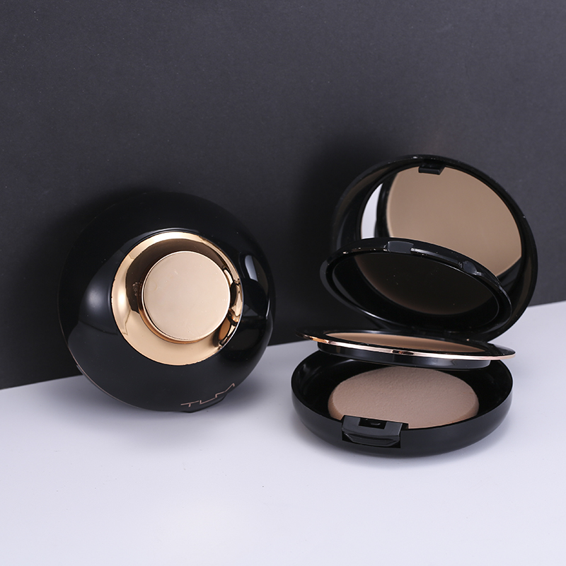 TLM Beauty Glazed Professional Full Coverage Long Lasting Makeup Face Powder Foundation Compact Powder Pressed Powder image