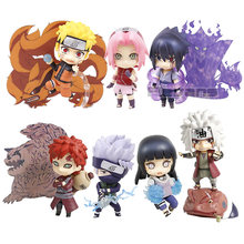Naruto 682 uchiha sasuke 707 itachi 820 hyuuga hinata 879 hatake kakashi 724 gaara 956 jiraiya 886 sakura 833 figura de ação brinquedo