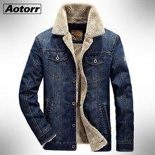 Hommes polaire jean veste hiver décontracté chaud Bomber vestes manteau hommes coton mode aviateur bouton Cowboy Denim vêtements d'extérieur coupe-vent