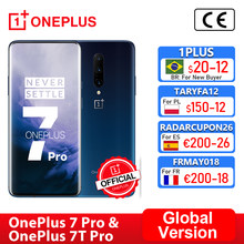 Versão global oneplus 7 pro snapdragon 855 oneplus 7t pro snapdragon 855 plus smartphone octa core 6.67 oled amamoled 48mp triplo, code: 1PLUS($20-12:For Brazail new buyer), tech199cymye($199-29)ae21tech29($199-29)