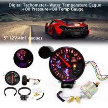Автомобильный цифровой тахометр + температура воды давление