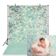 SeekPro Sping Ostern Mint Green Floral Studio Fotografie Hintergrund Kinder Kinder Baby Foto Hintergrund Photo Photophone