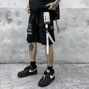 Мужские прямые свободные шорты-карго, модные короткие брюки в стиле хип-хоп для лета, 2020