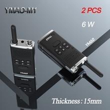 (2 adet) YMAO M1 el telsizi taşınabilir radyo 6W yüksek güç UHF el Ham el feneri radyo iletişimci HF telsiz
