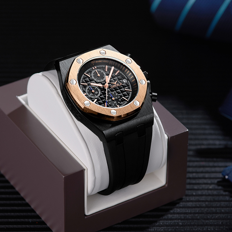 2019 ONOLA Luxus marke Mode Sport Military Herren Uhren Armbanduhr uhr metall Wasserdichte multifunktionale quarzuhr Männer