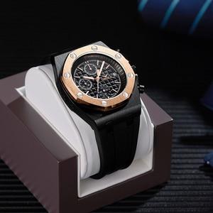 Image 1 - 2019 ONOLA Luxury brand Fashion Sports Military Mens Watches Wristwatch clock metal Waterproof multifunctional quartz watch Men