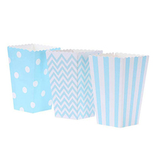 Popcorn-Boxes for Party Snacks Paper Sanck-Favor-Bag Xmas/Wedding/Kid Party-Decoration
