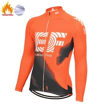 Camisa de ciclismo EF para hombre, maillot de ciclismo para invierno, camiseta...