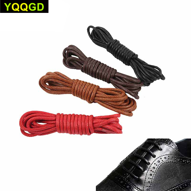 1Pair Round Waxed Shoelaces Waterproof Cotton Shoe Laces Sport Shoes Bootlace Board Shoes Casual Shoes Shoelaces 70cm