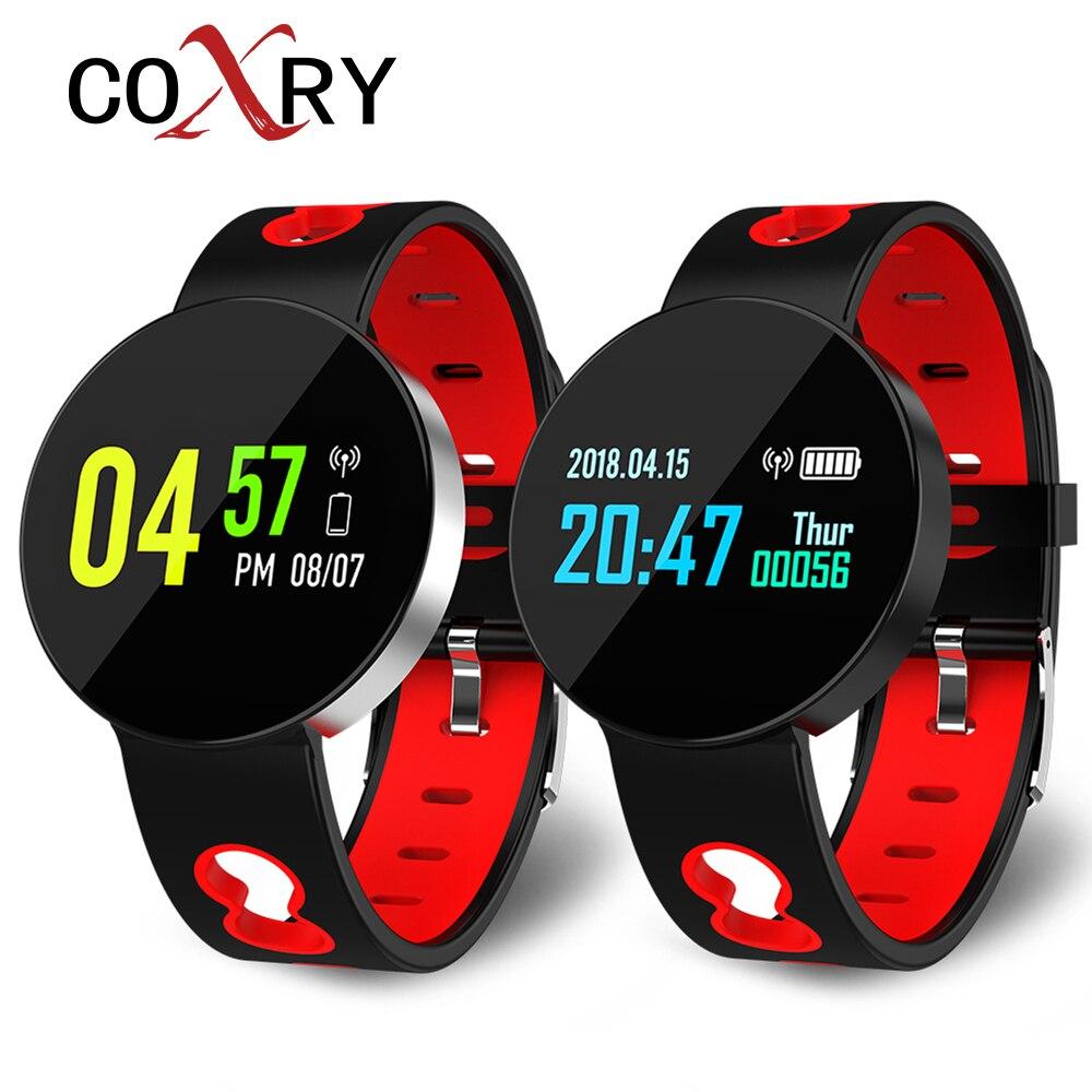 COXINHA Inteligente Relógio Das Mulheres Dos Homens Pulseira De Medição De Pressão E Pulso de Fitness Rastreador Monitoramento da Freqüência Cardíaca Android IOS Da Apple