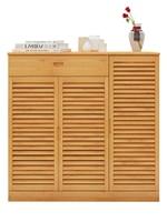 Shoe cabinet simple bamboo shoe rack home door multi layer solid wood shoe shelf economy multi functional storage