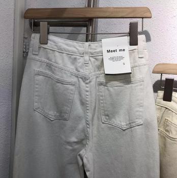 2019 Winter White Jeans Thick Warm Fleece White Denim Trousers High Waist Jeans 5