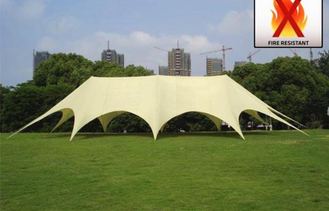 14m x 25m Three Poles Star Marquee PVC Material for Trade Show Fair Exhibition Party Wedding Display Event Sun Shelter Fly Tents