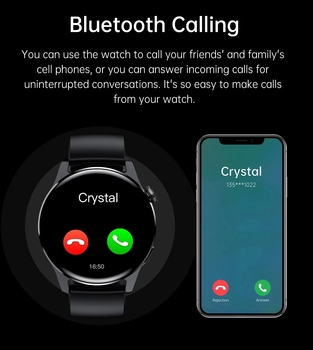 2021 New For HUAWEI Smart Watch Men Waterproof Sport Fitness Tracker Weather Display Bluetooth Call Smartwatch For Android IOS 6