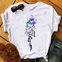 Mujeres 2020 acuarela impresa flor Vintage camiseta mujer superior estética ropa señoras gráfico Camisetas Mujer camiseta