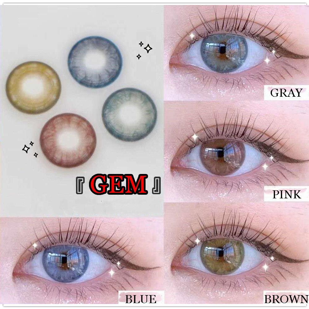 Free shipping Big Eyes Cute Contacts Annually Colored Contact Lenses Cosmetic Contact Lens for Women lentes de contacto Gem Contact lenses    - AliExpress