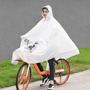 Image 2 - MI Mijia Qualitell EVA imperméable vélo imperméable capuche Poncho de pluie à capuche pour Scooter moto vélo hommes femmes housse de pluie