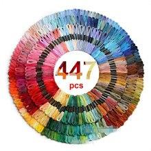 447 peças dmcdmc ponto cruz threads toda a cor diferente bordado rosca skeins artesanato dofferent gradiente linha de cor 8 m