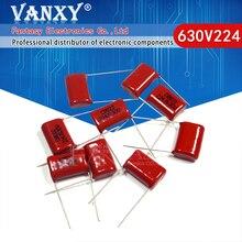 10 adet 630V224J 0.22UF Pitch 15mm 224 630V 220nf CBB polipropilen film kapasitör
