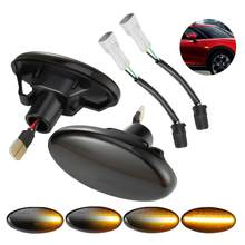 2X Fit For Mazda 2 3 5 MPV Smoked Dynamic Flowing LED Side Marker Turn Signal Lights TOP QUALITY